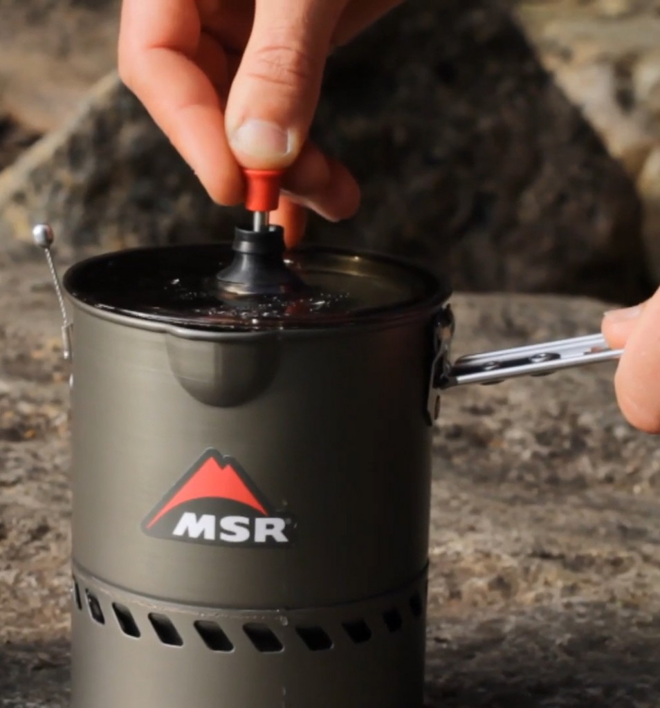 French Press Coffee Maker For Camping : MSR Backcountry Cafe: French Press Coffee - The Summit Register