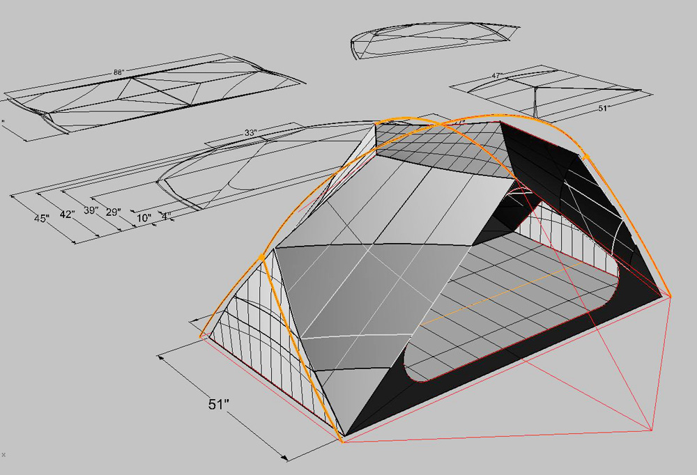 One of many CAD drawings of the MSR Hubba Hubba NX during the design process. Tent geometry & Reinventing the MSR® Hubba Hubba™ NX Tent u2013 MSR Shelter