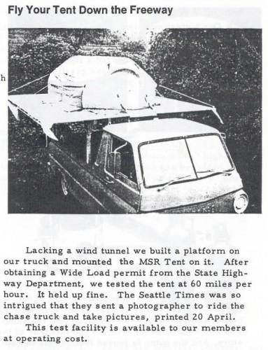 Tent Testing April 1973