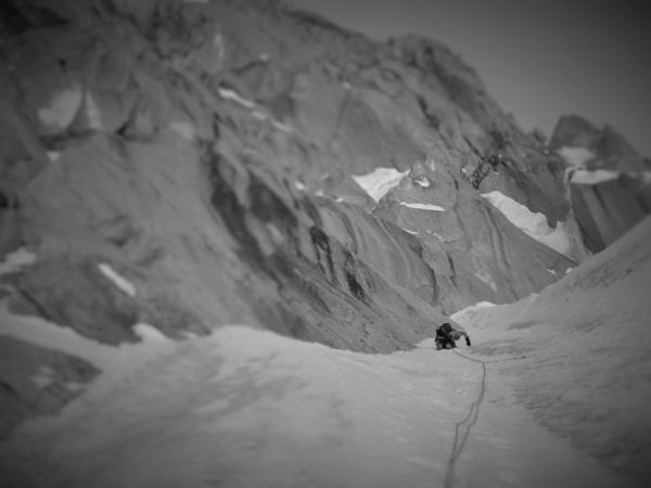 Climbing towards the summit.Photo Chantel Astorga