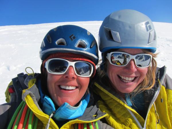 Smiles on the summit!Photo Chantel Astorga