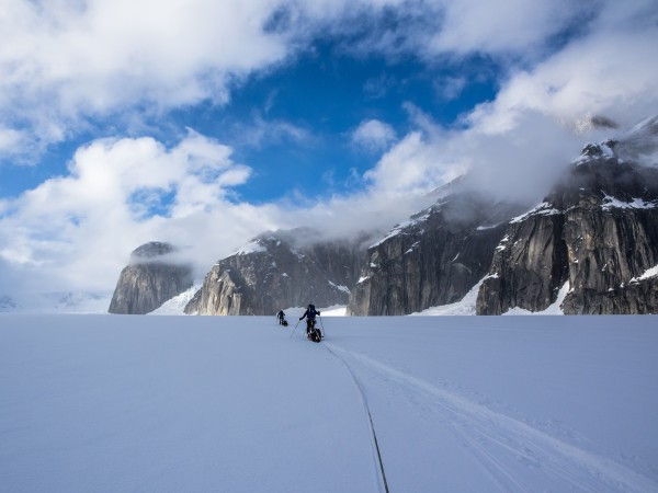 3.Is isn't until you start walking across the glacier without gaining any perceptible ground that you start to comprehend the scale of the Ruth. Photo: ©Scott Rinckenberger