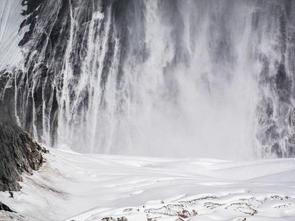 Avalanches almost constantly poured down the massive faces of the gorge as the mountains worked to shed the burden of the recent snowfall. Photo: ©Scott Rinckenberger