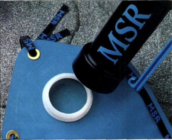 Der WaterWorks ist mit dem MSR Dromedary Bag kompatibel