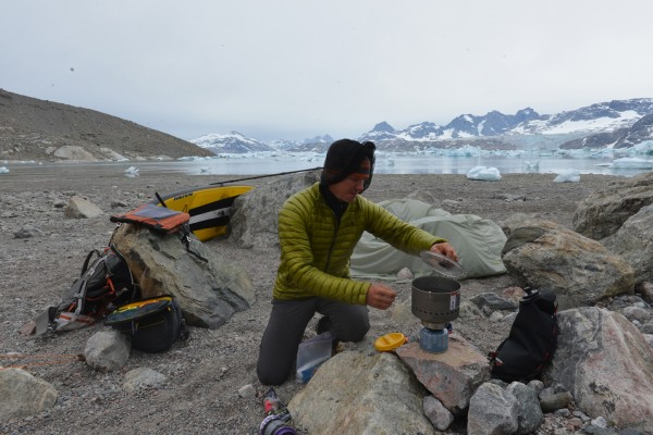 Cooking In Greenland With My Dromedary Bag Nearby