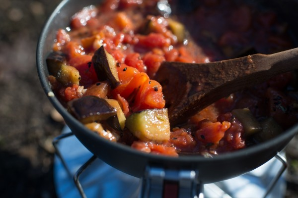 Spiced Eggplant & Tomato
