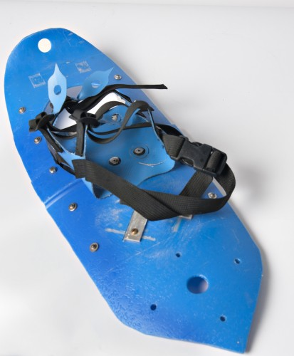 Bill Forrest's molded snowshoe prototype, from the museum case at MSR's Seattle headquarters.