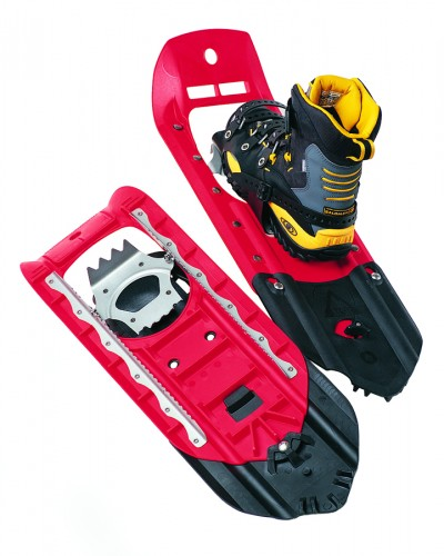 The original MSR Denali Snowshoe and Modular Flotation Tail, 1995.
