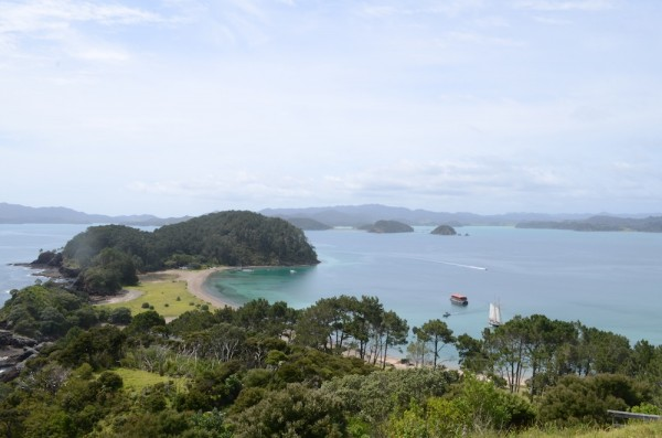 The Bay of Islands in the far north of New Zealand is the first chance to relax from the trail.