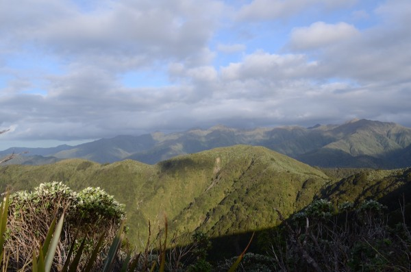 Up top at the Waiopehu Hut in the Tararua Ranges of New Zealand.
