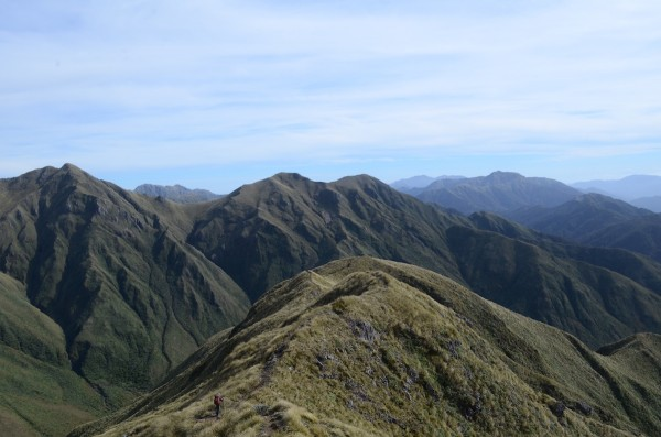 The Tararua Ranges on the southern end of New Zealand's North Island are the first major mountains on Te Araroa.