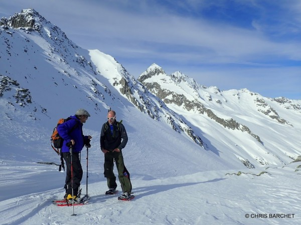 One of many in-depth conversations about snowshoes.