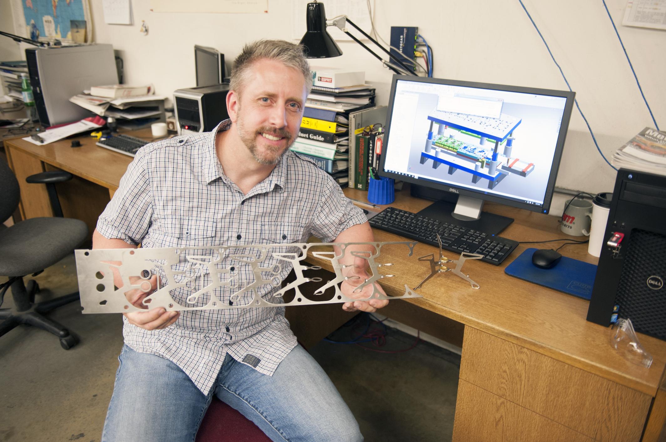 Tool shop's supervisor, Tim Sandin