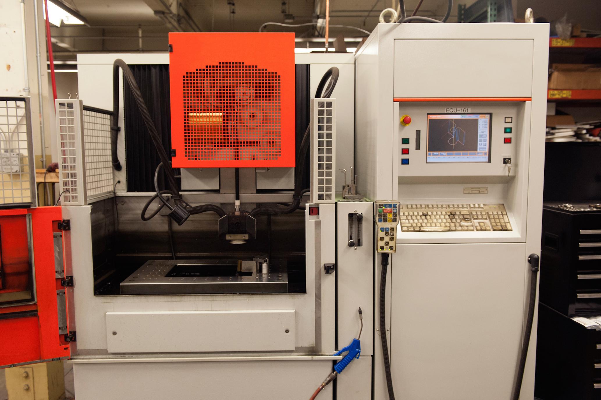 Wire EDM (electrical discharge machine)