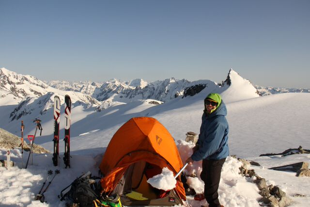 Eldorado Peak with MSR tent