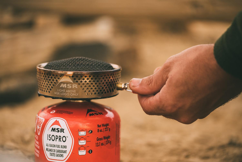 fuel canister and radiant burner