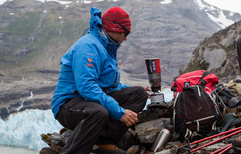 windburner stove in antarctica