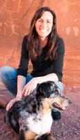 steph davis with dog cajun