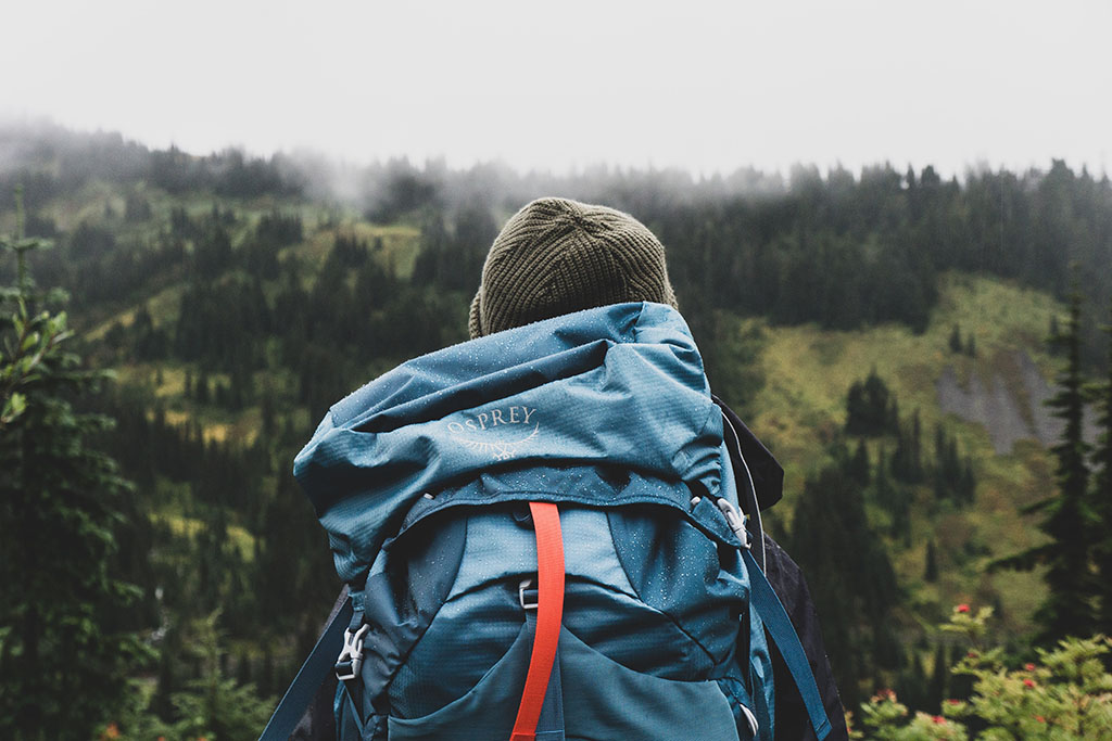 backpacking with osprey backpack