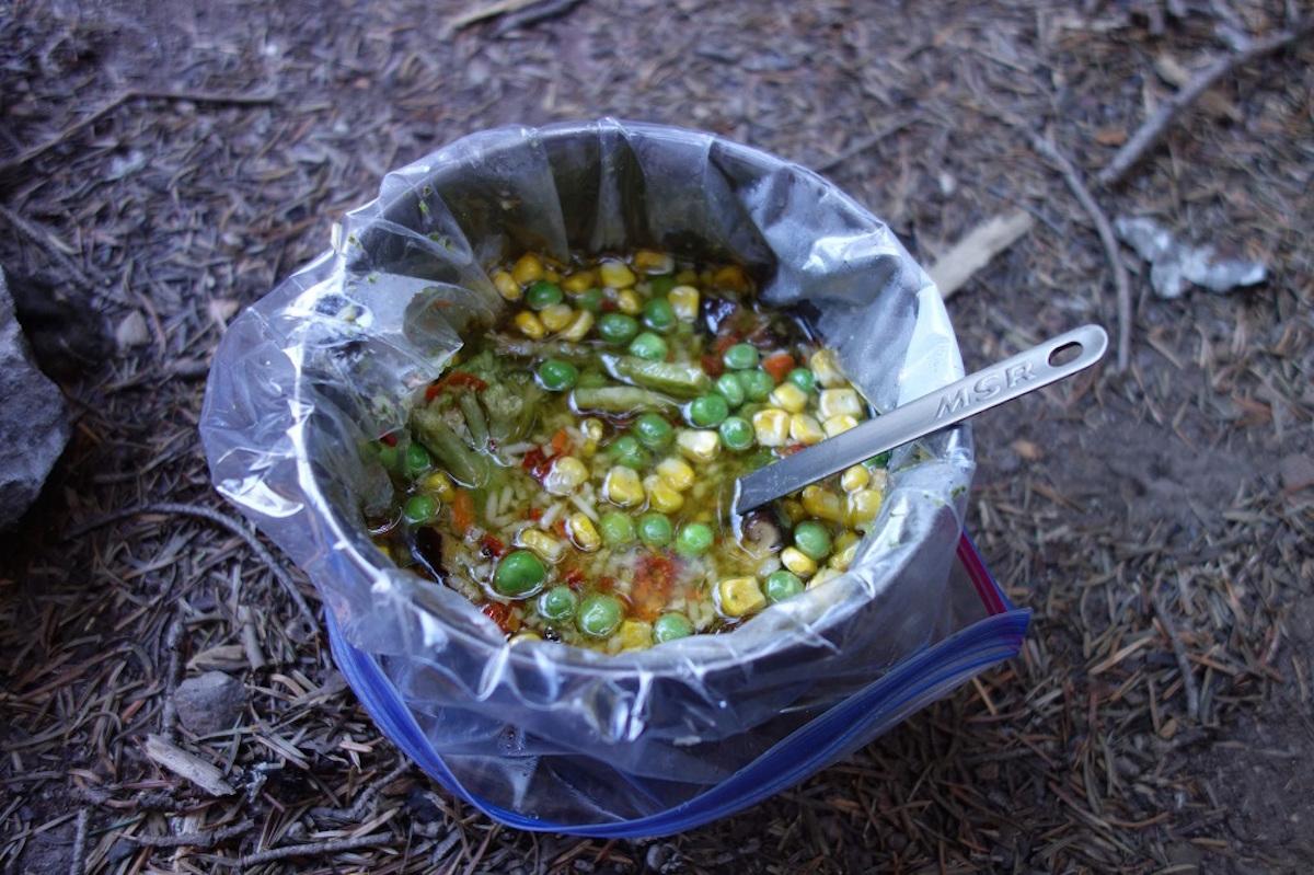 thru hiking meal