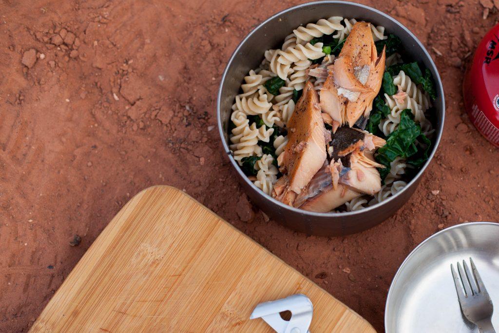 Kale and Smoked Salmon Pasta