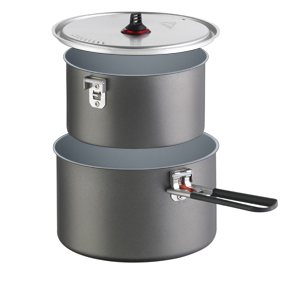 backpacking cookware materials Hard anodized Aluminum