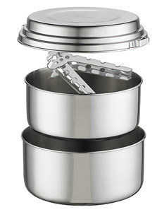 backpacking cookware materials stainless steel