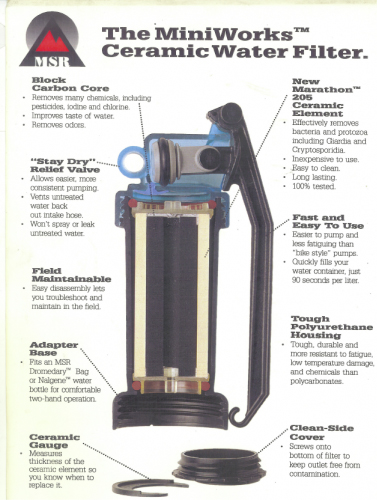 MSR MiniWorks Ceramic Water Filter