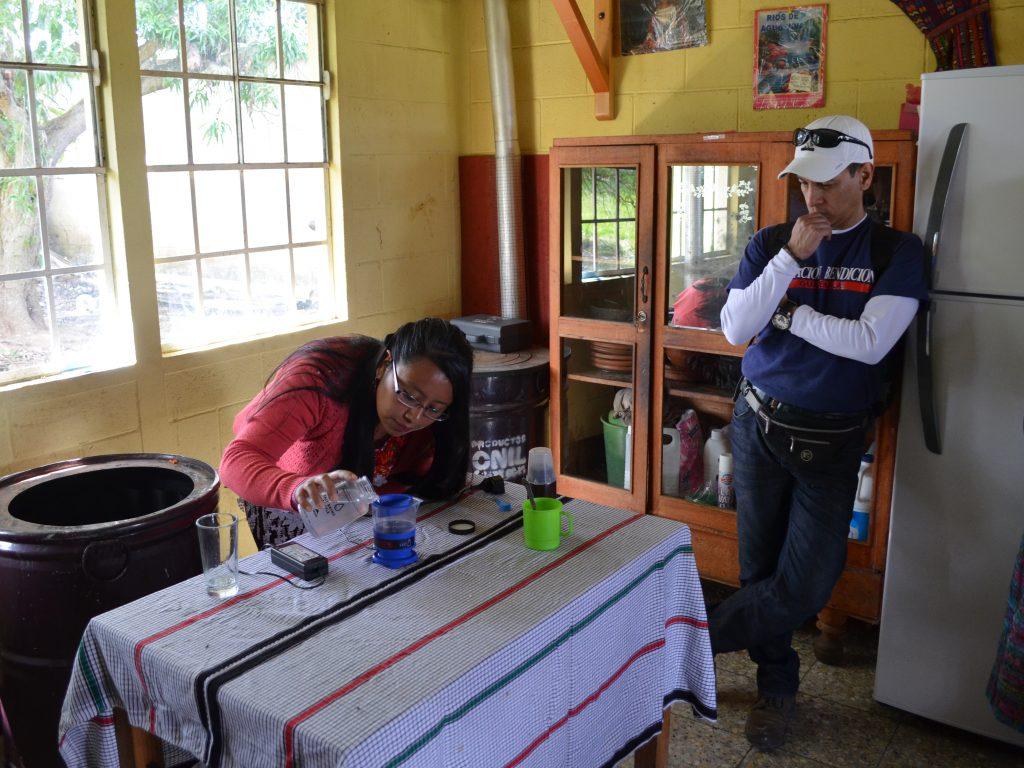 MSR Global Health - Ixmucané School using SE200 Community Chlorine Maker