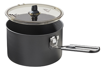 hard anodized pot with lid