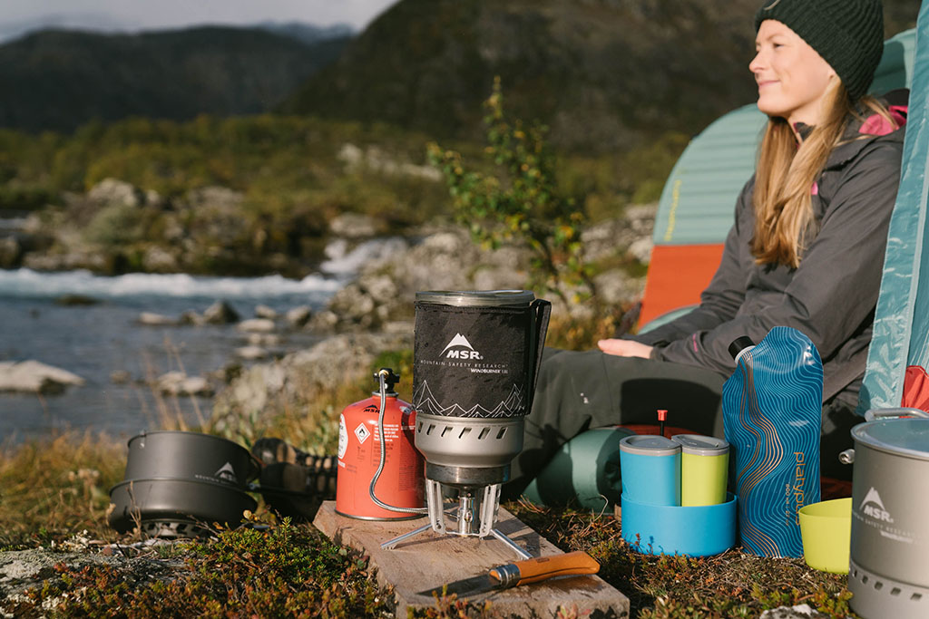 backpacking cookware at campsite