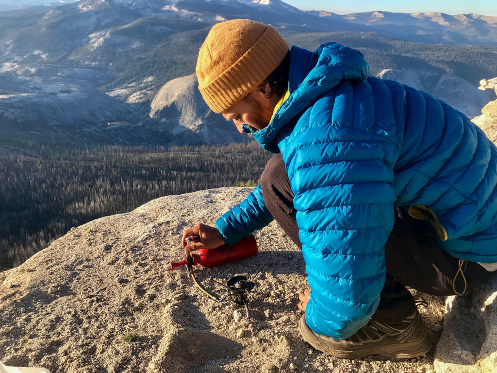 canister stove vs. liquid fuel stove on mountain expedition