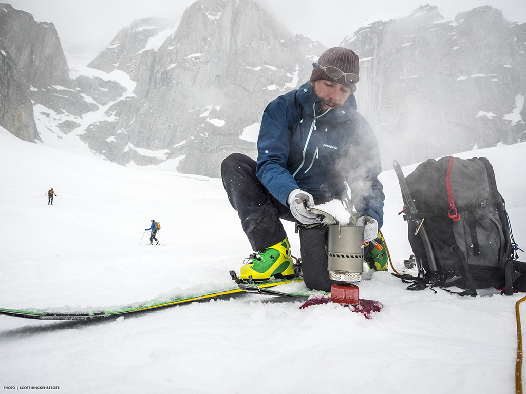 melting snow with reactor stove system