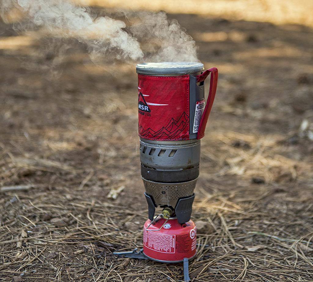 boiling windburner pot