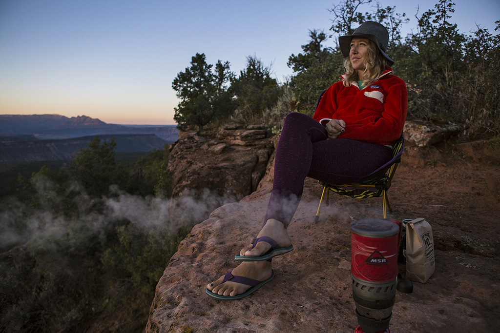 relaxing in the backcountry