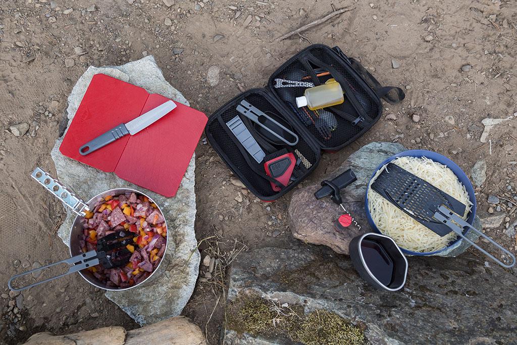 group camping kitchen set