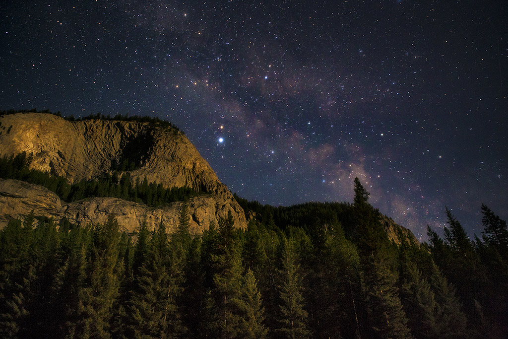 bob marshall's wilderness stars at night