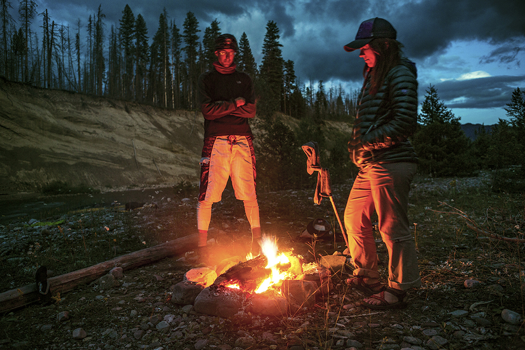 fire on packrafting trip