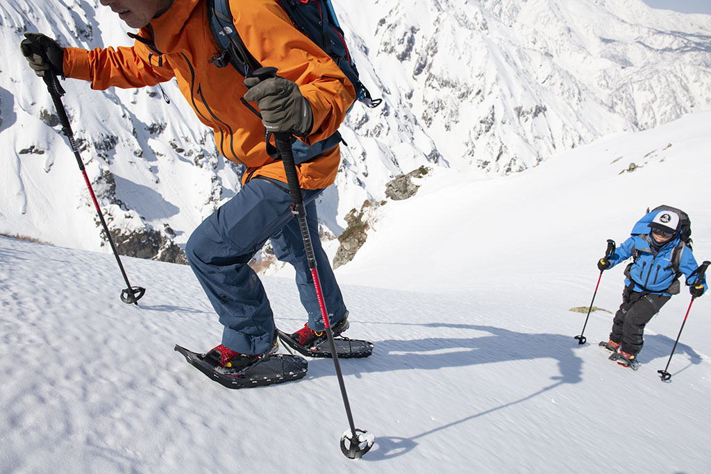MSR lightning snowshoes and MSR poles