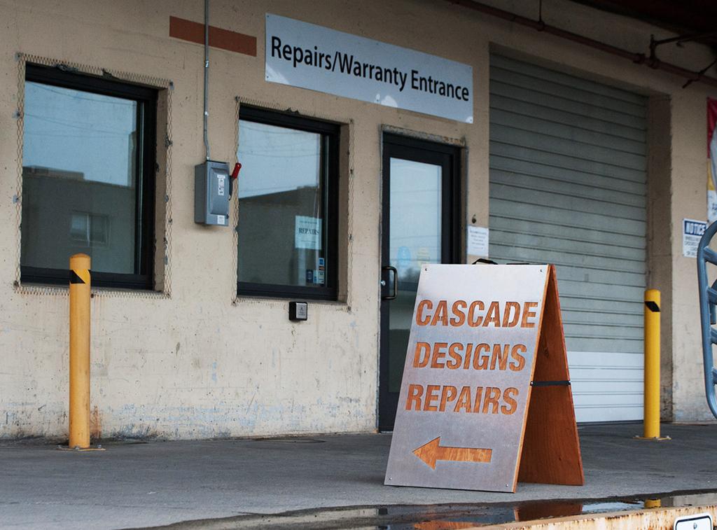 cascade designs repair shop