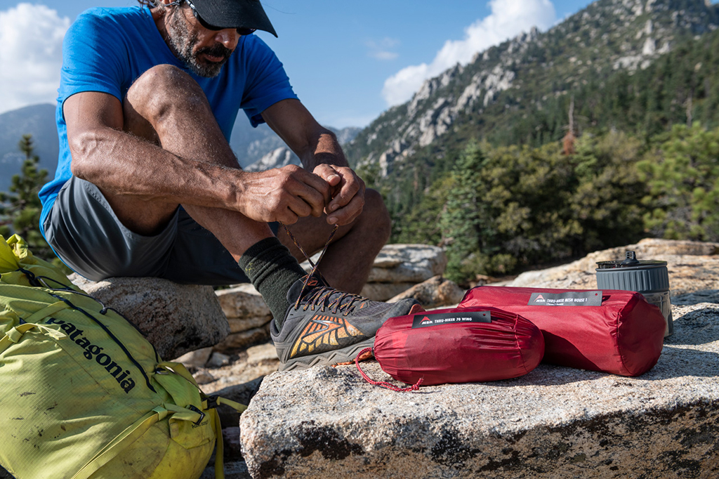backpacking gear checklist thru hiker tents and footwear