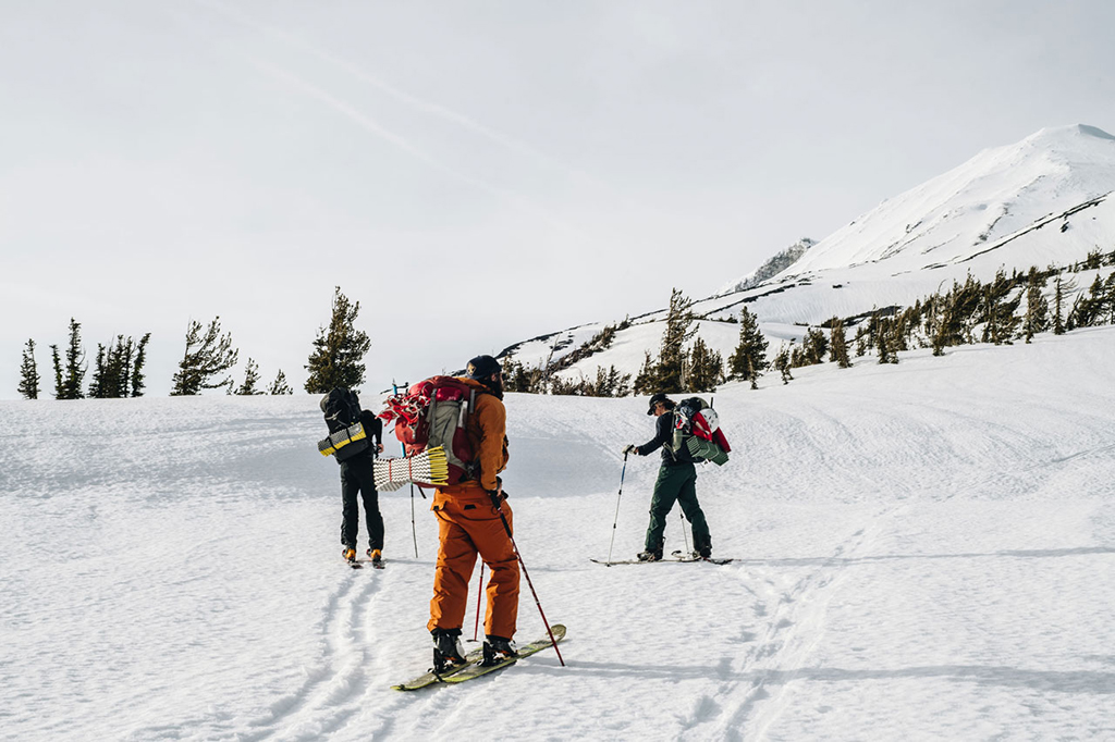 ski mountaineering with backpacking gear