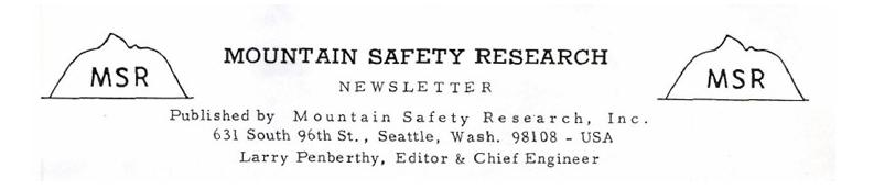 MSR 1969 Newsletter