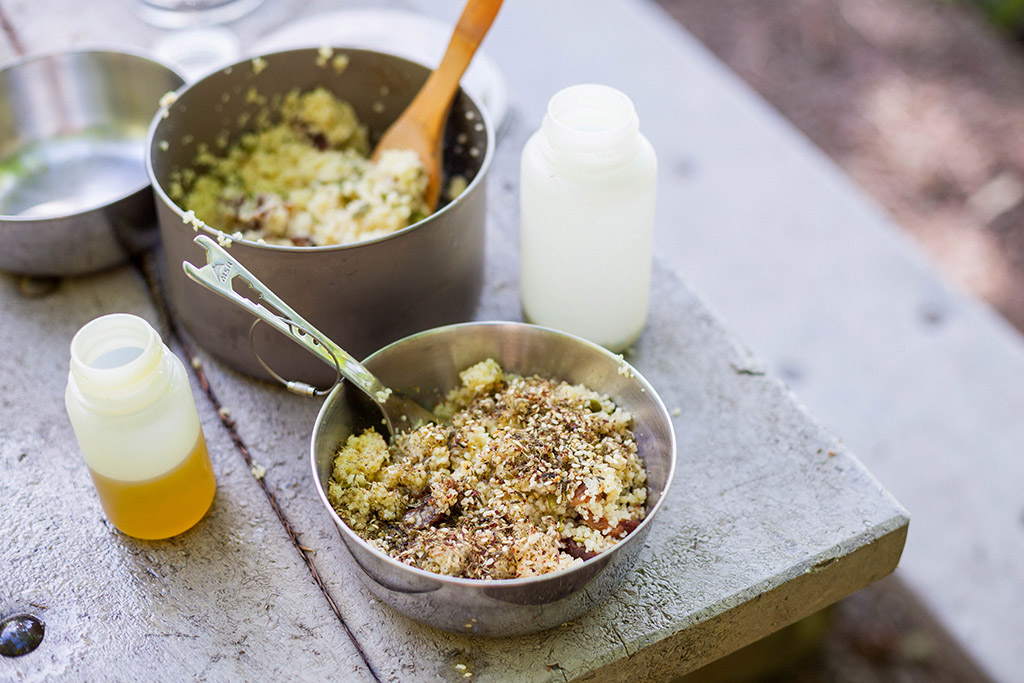 apricot couscous with za'atar camp recipe