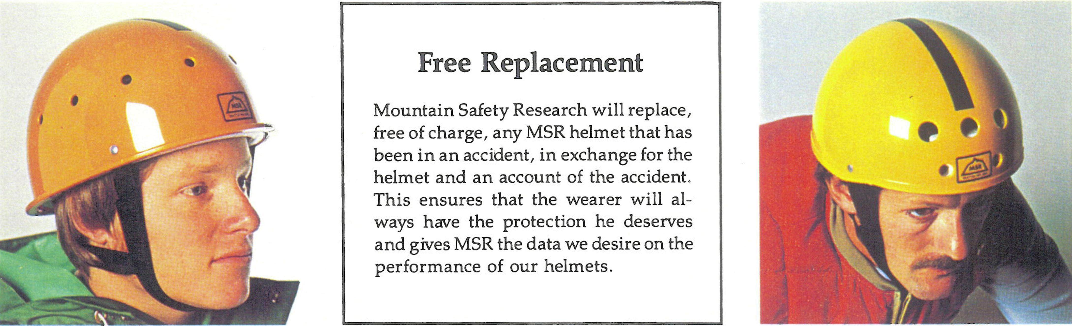 MSR helmet replacement program