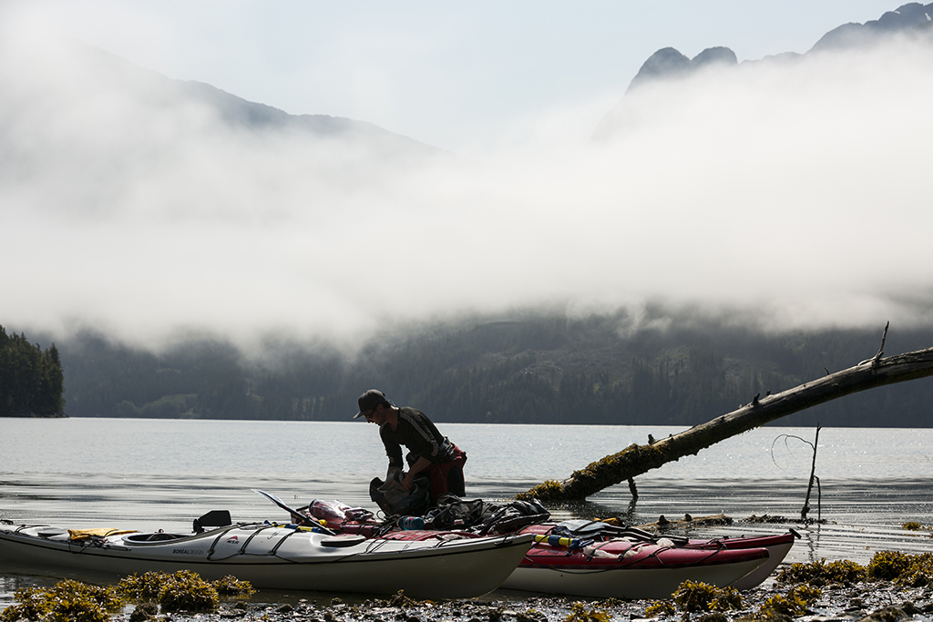 kayak on the vancouver coast