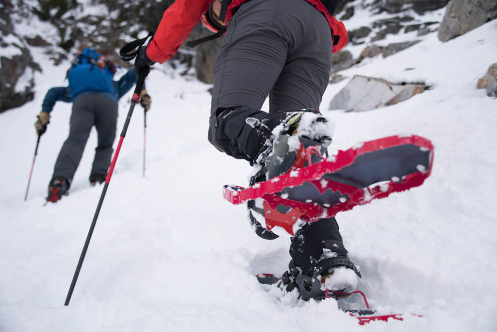 snowshoeing in MSR snowshoes