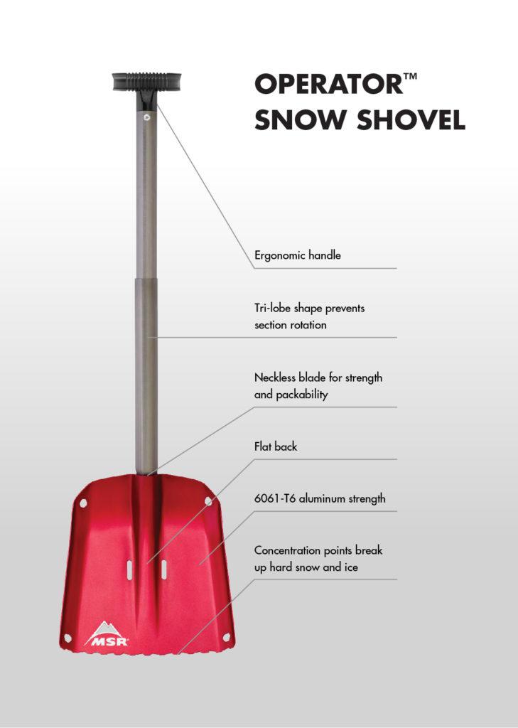 MSR snow shovel