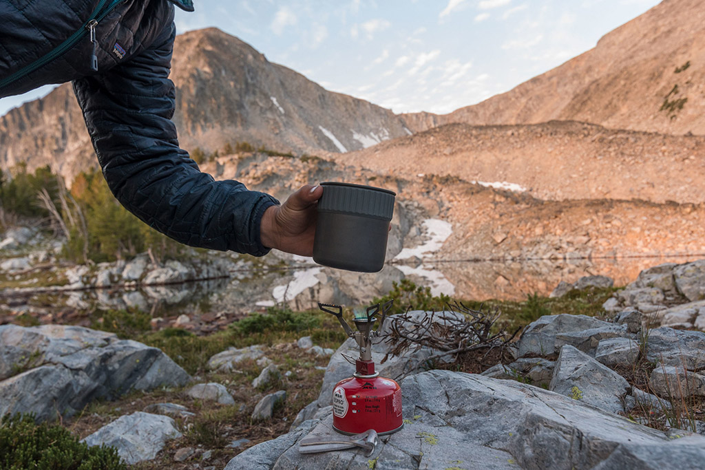 fast and light instant coffee in the outdoors