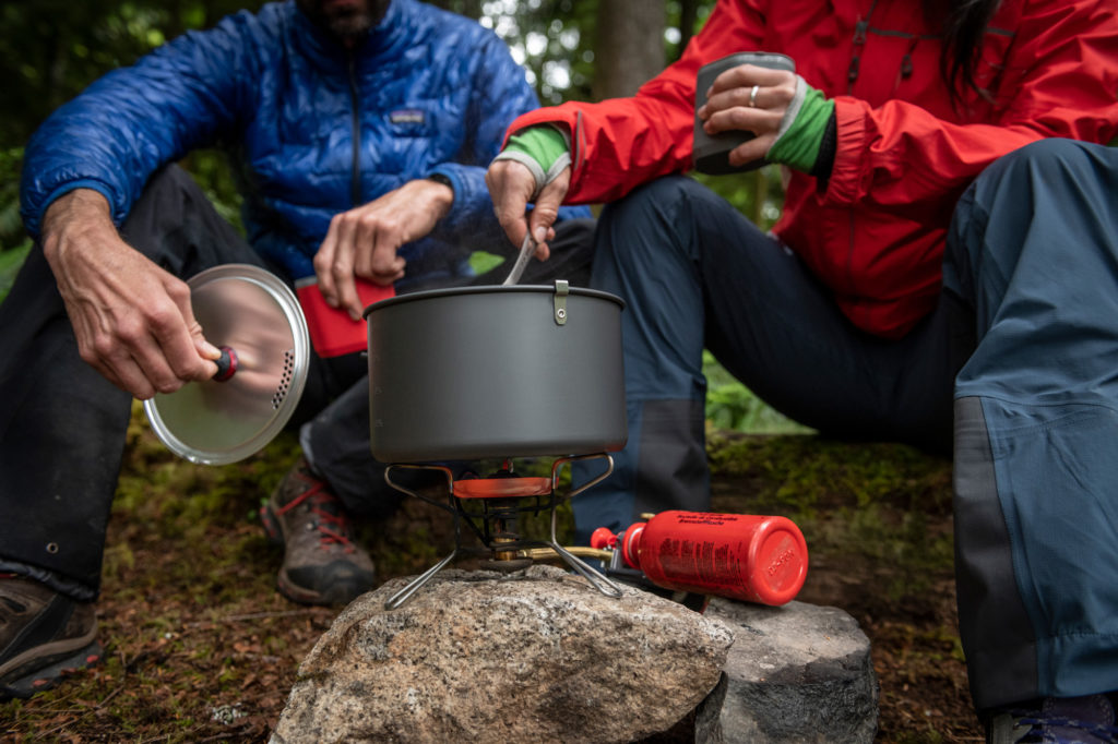 cooking with liquid fuel stove